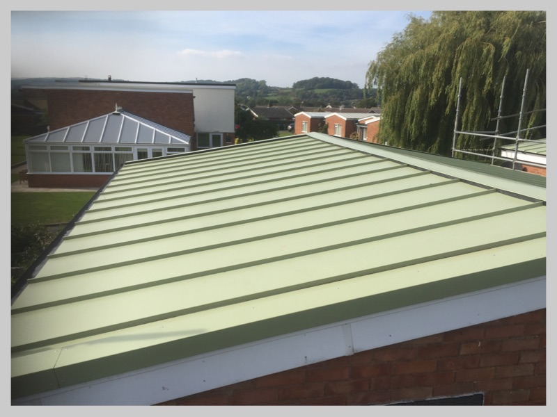 New commercial single seam warehouse roof in Worcestershire by Wyvern Roofing