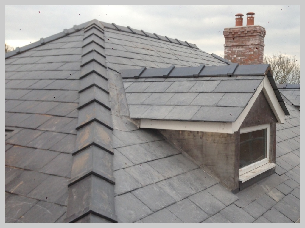 Wyvern Roofing, New Slate Roof, Shropshire