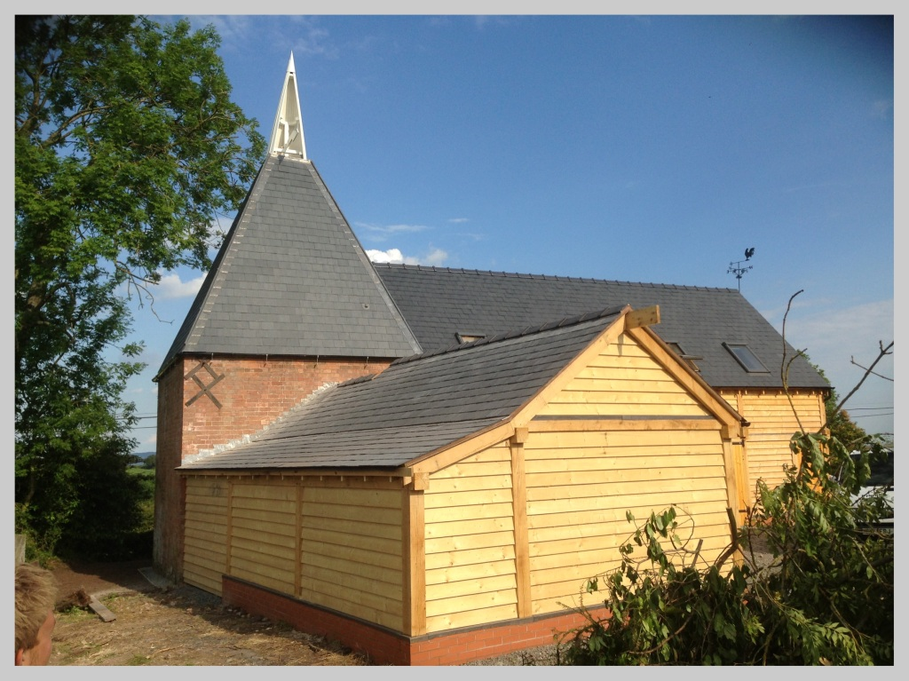 Hop Kiln slate roof, Tenbury Wells, Worcestershire