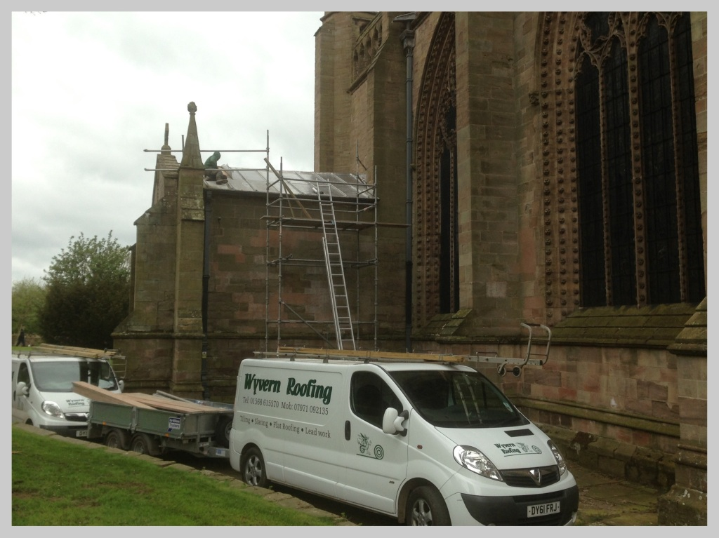 Lead work on Priory Church, Leominster, Herefordshire by Wyvern Roofing