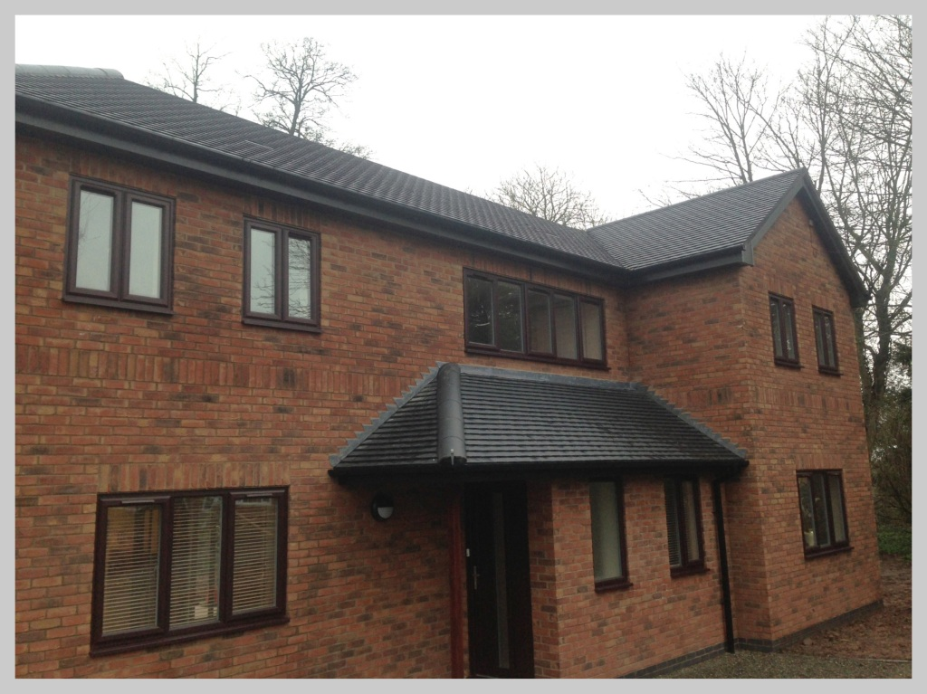 New build tiled roof in Worcestershire, Wyvern Roofing