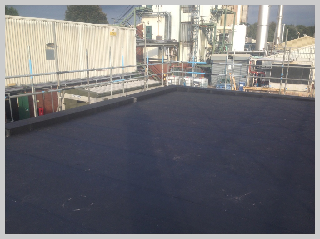 New EPDM factory roof in West Midlands