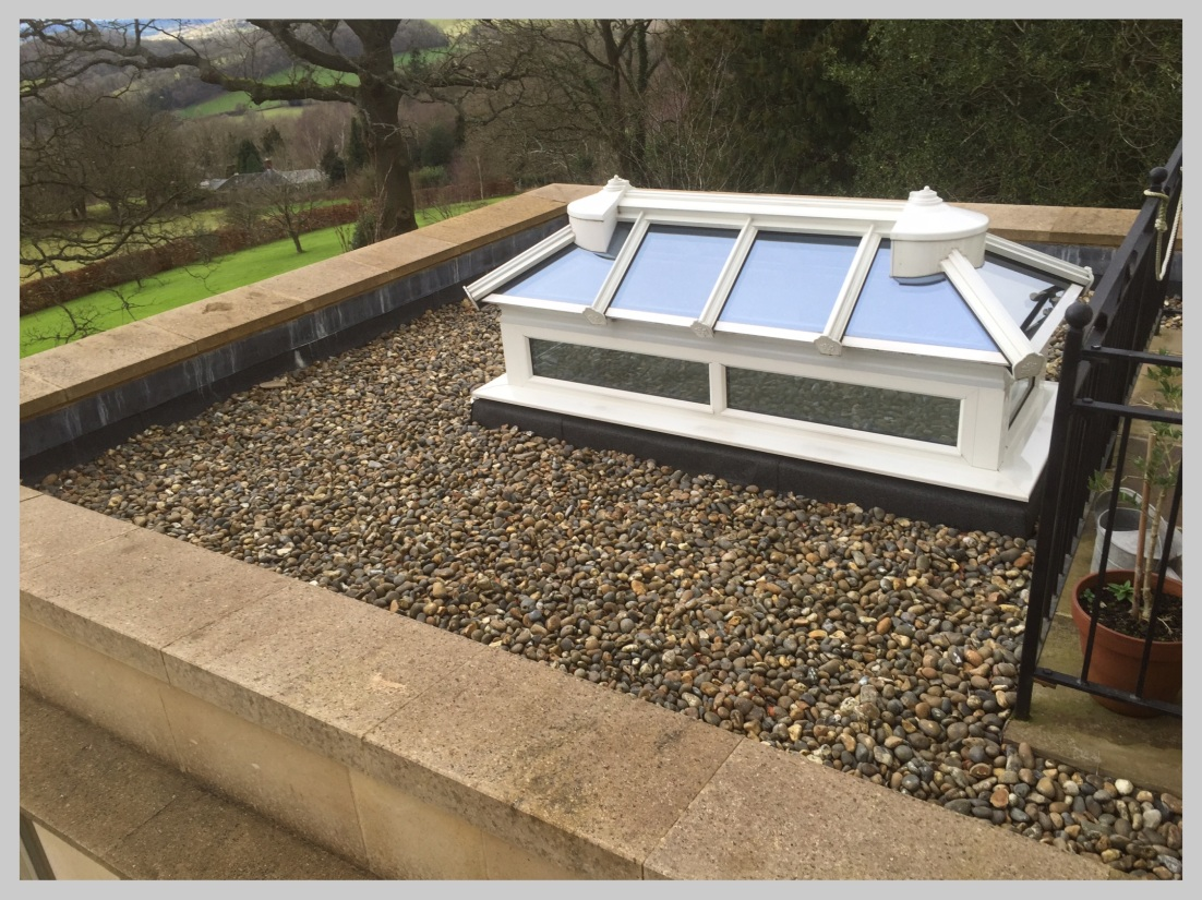 A new flat roofing system with large sky light on a historic building in Shropshire Wyvern Roofing
