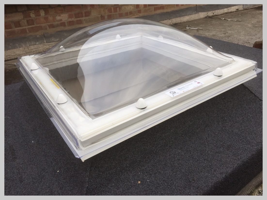 Replacement skylight fitted to new flat roof Bromyard, Herefordshire, Wyvern Roofing