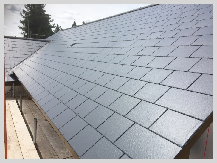 Slate roof on a new build property in Herefordshire by Wyvern Roofing,