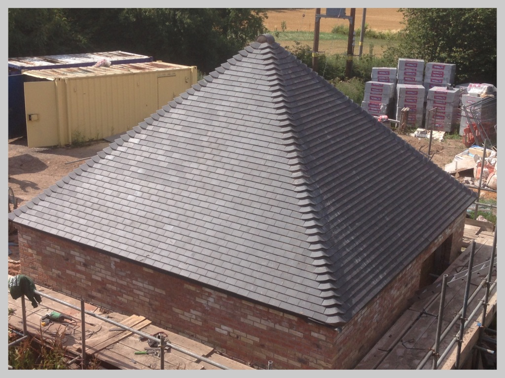 Tiled hip roof, Tenbury, Worcestershire